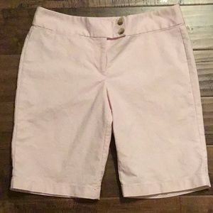 Ann Taylor Signature Fit Pink Shorts Size 6